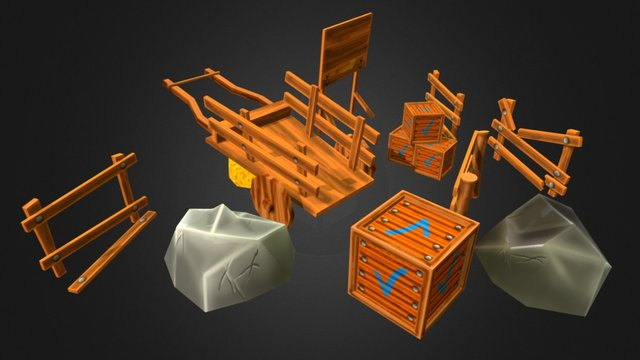 Low Poly Environmental Models 3D Model