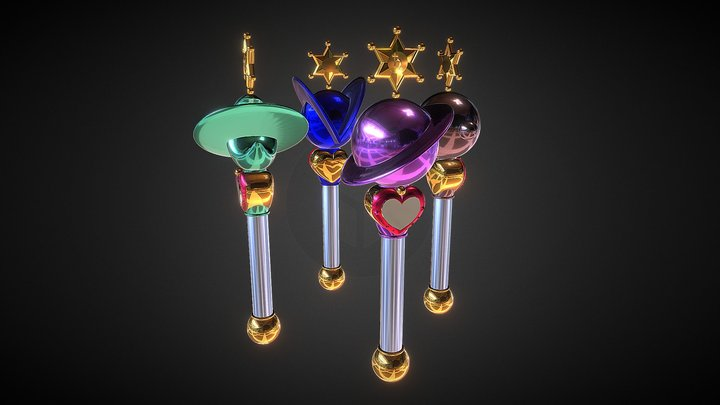 Outers Lip Rods 3D Model
