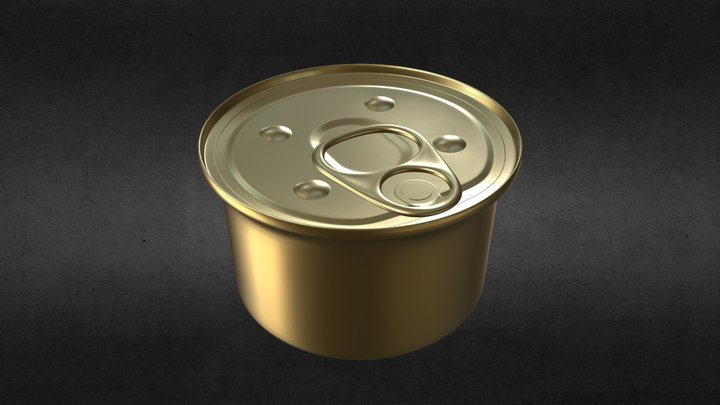 Small Food Can 3D Model