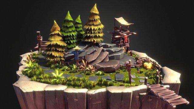 Nature Composition 3D Model