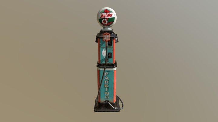 50s Gas Pump 3D Model