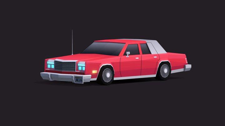 Cartoon Low Poly Chrysler New Yorker 3D Model