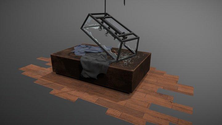 Smashed Light Fixture 3D Model