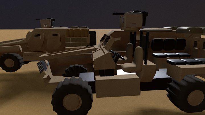 MRAP 4 Showoff 3D Model