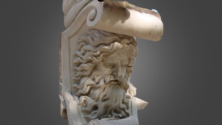 Statue of a face 3D Model