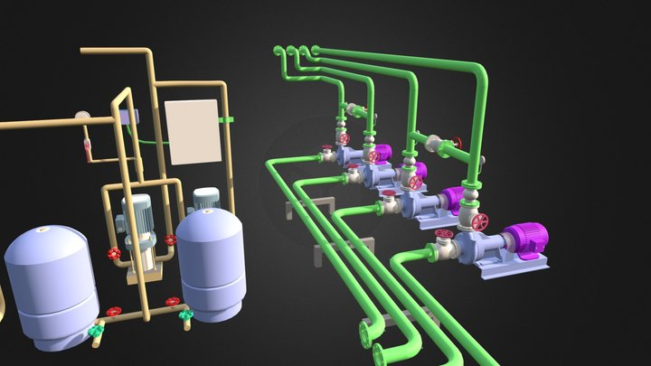 Exemple Piping 3D Model