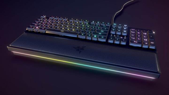 Razer Huntsman Keyboard - Mechanical Switches 3D Model