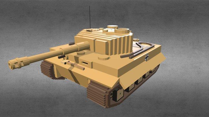 Minecraft - Tiger I 3D Model