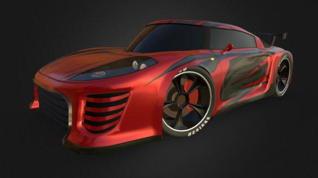 Sports Car Concept 3D Model