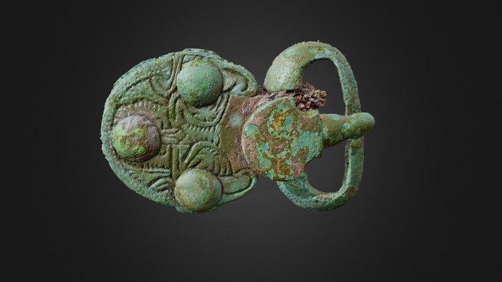Plaque-boucle en bronze 3D Model