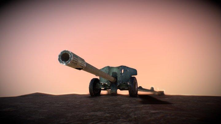MT-12 Anti-Tank Gun 3D Model