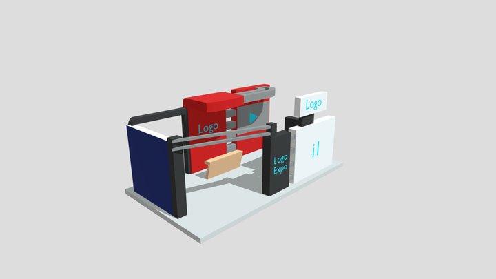 Modelo Stand Empresarial (1) Expo Virtual CDI 3D Model