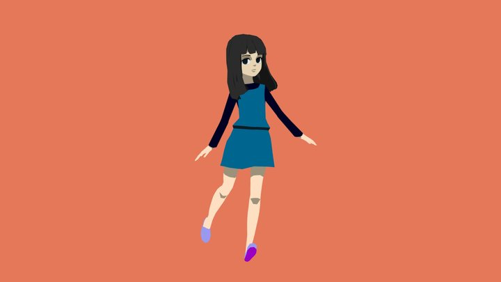 smol girl 3D Model