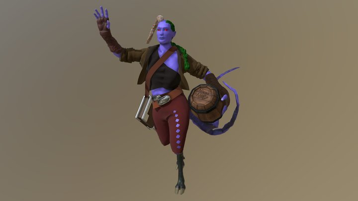 Micca DnD Teifling Monk 3D Model