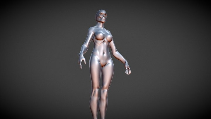FEMALE Anatomy (8 Head Proportions) 3D Model