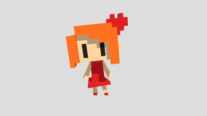 Jessica Robot Idle 3D Model