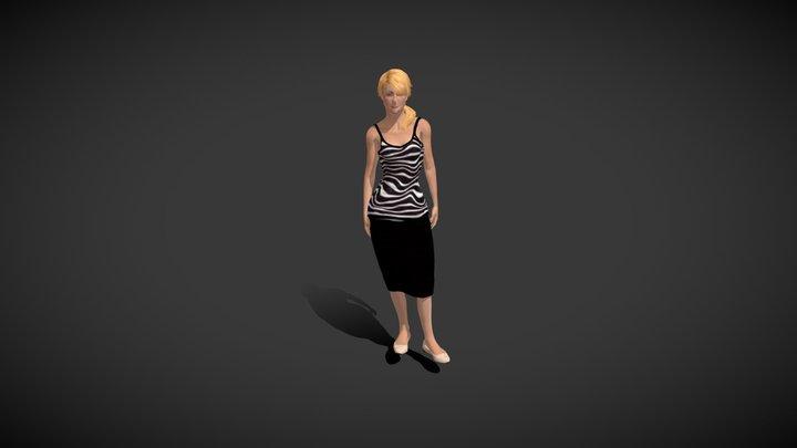 Mia Talking On Phone 3D Model