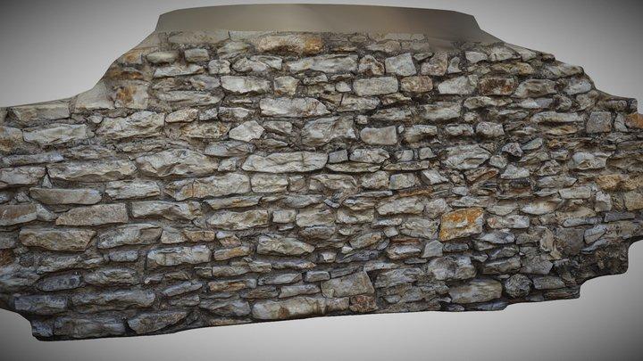 Stone Wall Highpoly 3D Model