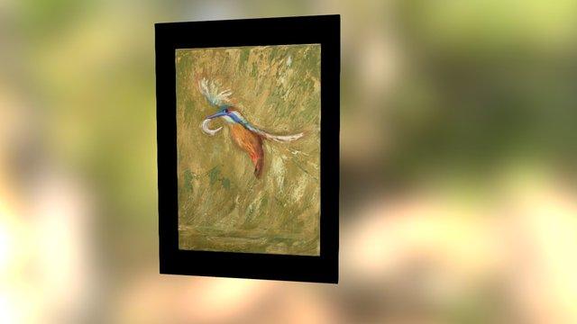 king fisher painting work in progress 3D Model