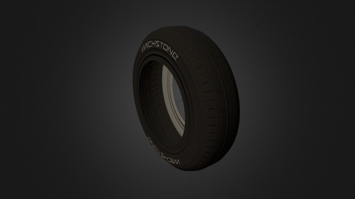Tyre Baked Low Poly Test 3D Model