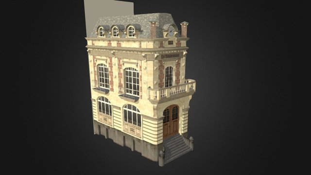 House B: Le Télégramme 3D Model
