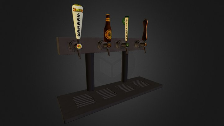 Beer Taps and Grill  3D Model