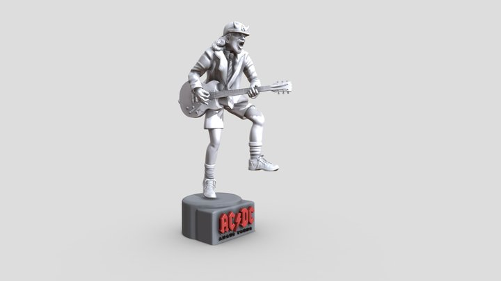 Angus Young - ACDC 3D Printable 3D Model