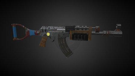 Post Apocalypse Gun 3D Model