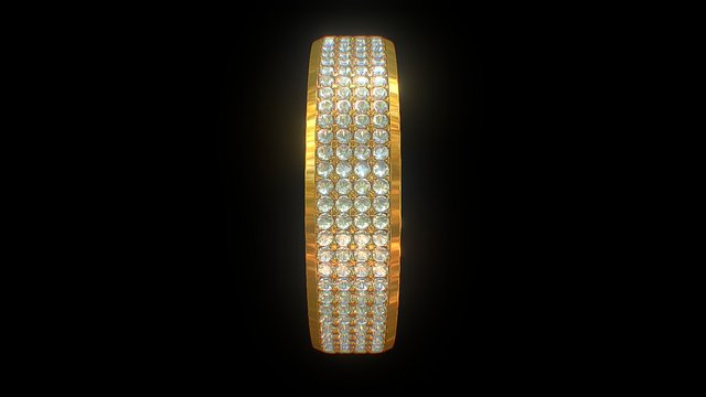 Diamond Ring 001 3D Model