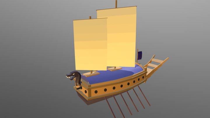 Navio Tartaruga 3D Model