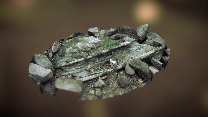 dry creekbed boulder 3D Model