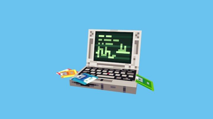Lil Laptop 3D Model