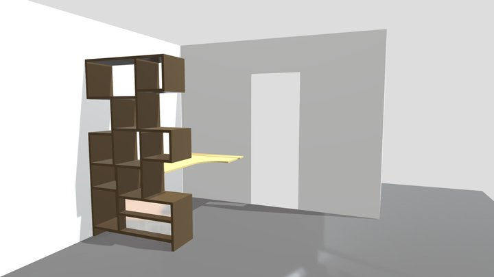 etagere_bureau 3D Model