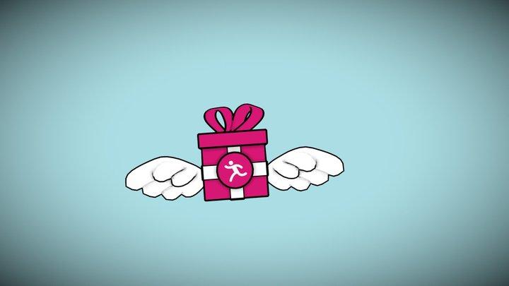 Flying Gift Stop 3D Model
