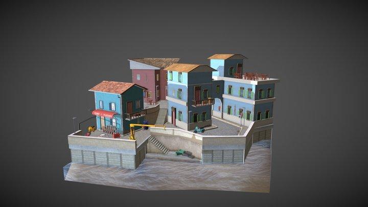 Girona City Scene 3D Model