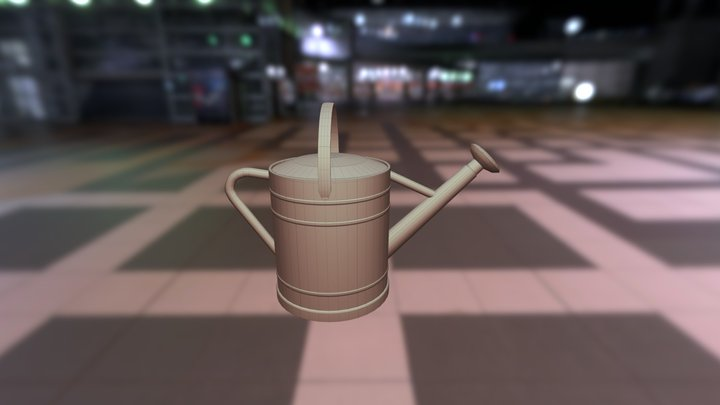 Watering Can 3D Model