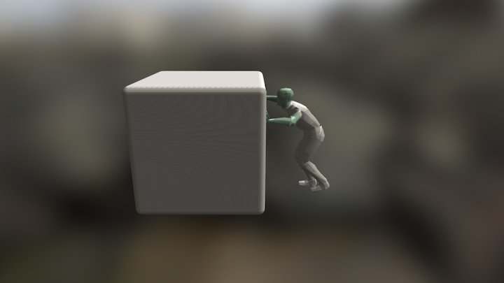 Push Animation 3D Model