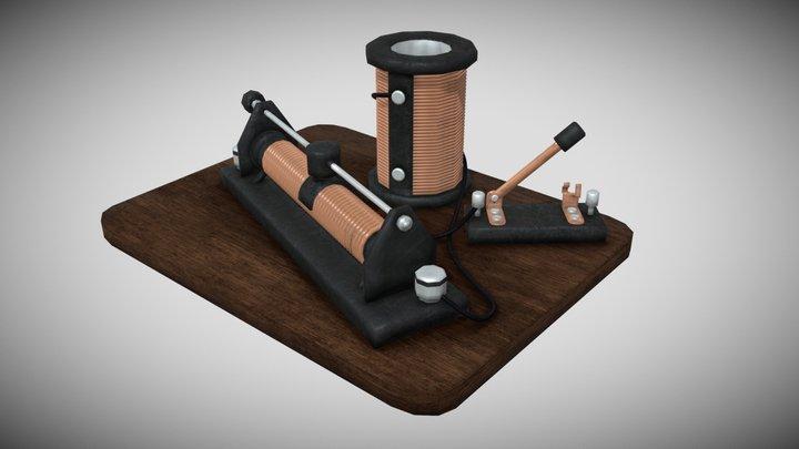 Physics lesson equipment 3D Model