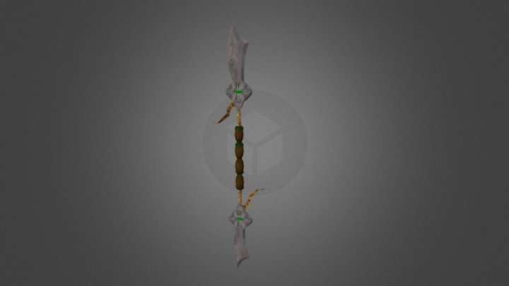World Of Warcraft Style Weapon 3D Model