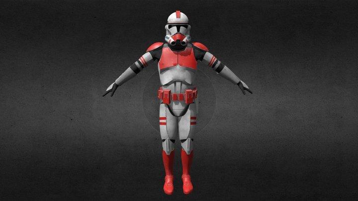 Clone Trooper Phase2 (Coruscant Guard) 3D Model