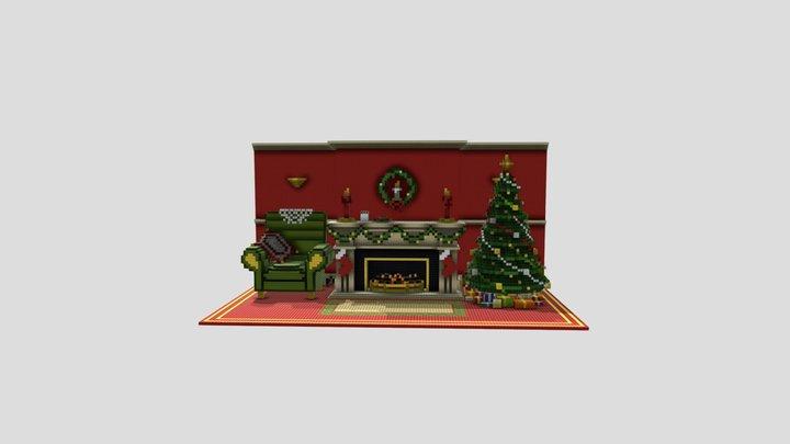 christmas-fireplace 3D Model