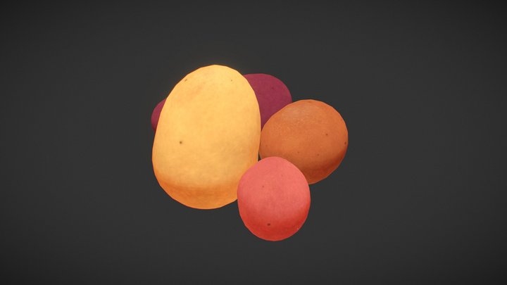 Secret Santa - Potatoes 3D Model
