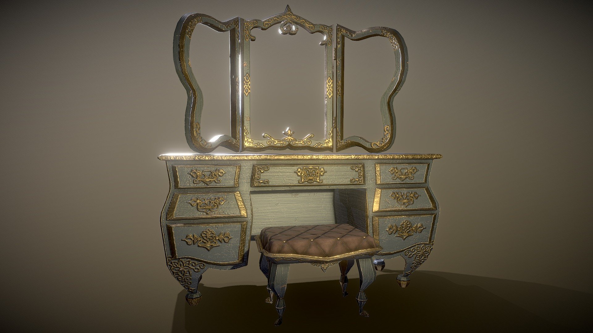 Victorian Antique Makeup Vanity