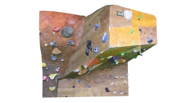 Boulders 3Q BLOC Wall 3D Model