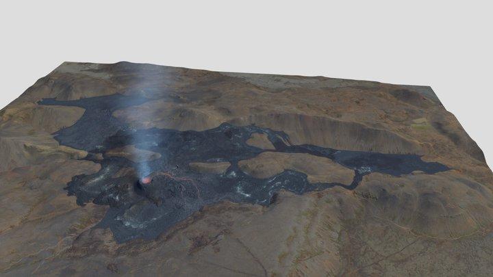 Fagradalsfjall volcanic eruption 26.06.2021 3D Model
