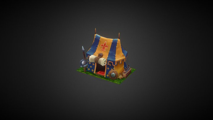 Fantasy Army Tent 3D Model