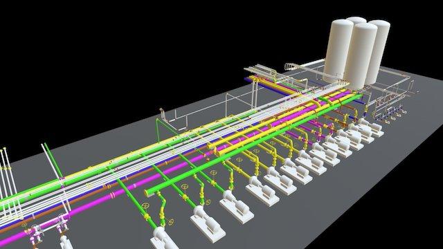 3D - Pump Slab 3D Model