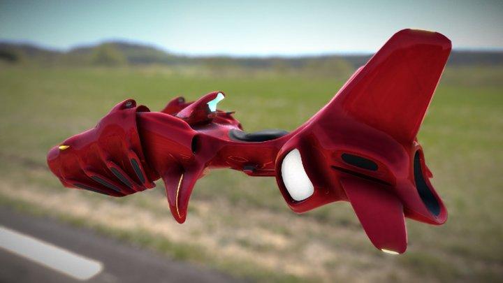 Blender hoverbike. Model: Red Carp 01L 3D Model