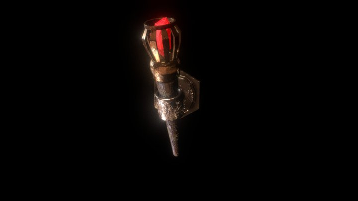 Crystal Torch 3D Model