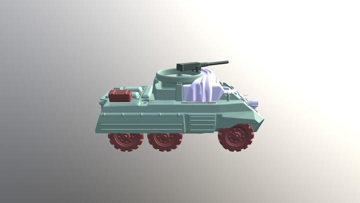 15mm M20 SCOUT CAR 3D Model
